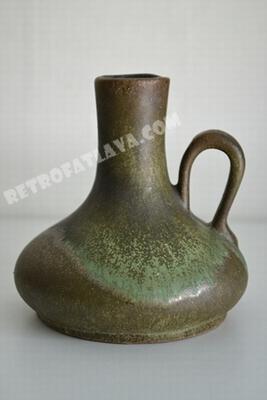 Roth keramik handled vase