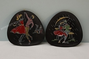 2   Ü-Keramik wallplates  by Ursula Schönhaber